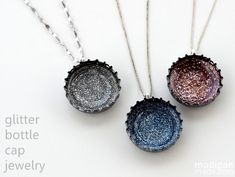 Recycled Bottle Cap Jewelry - so easy! And fun for Earth Day!
