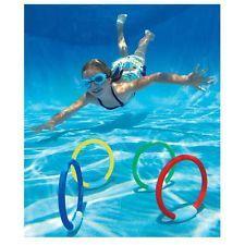 new intex underwater childrenskids swimming pool dive diving rings sticks - Kids Swimming Underwater