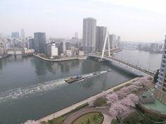 【東京魅力】隅田川  隅田川與石神井川、神田川等支流匯合後流入東京灣,全長23.5㎞,是東京具有代表性的河流。 從古時起就作為生活用水、農業用水、人和物資的水路運輸而與居民產生了密切的關系,江戶時代以後隅田川的河運支撐了經濟發展。  另外,在當時被視為風雅之事的屋形船賞花、賞月垂釣鰕虎魚等遊河雅事在現在也可以體味,可以從與日常不同的角度欣賞今日的大都會東京。 隅田川上架設的橋梁設計風格各具特色,令人一飽眼福。夜晚可以觀賞彩燈妝點的美景。春天河岸上成排櫻花盛開,7月下旬舉辦隅田川焰火大會,毎年估計都有近100萬人觀賞,已經成為了東京的夏季風情詩。  資料來源:http://www.japan-i.jp/cht/index.html