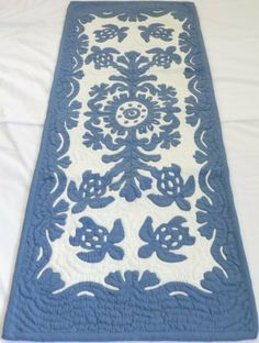 Hawaiian quilt table runner 100% hand quilted/hand appliqued Hawaiiana by Hawaiian Quilt Shop, http://www.amazon.com/dp/B009DDI8DQ/ref=cm_sw_r_pi_dp_cWAdrb0ZWC02E