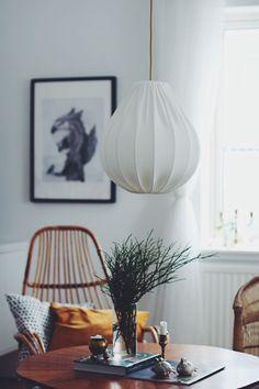 Taklampa droppe eco bomull via Lampverket unika lampor