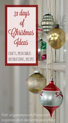 31 days of christmas ideas introduction