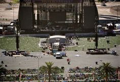 From Las Vegas to Puerto Rico, media plays politics to hurt President Trump  -  October 3, 2017:   Caption:  Debris is strewn through the scene of a mass shooting at a music festival near the Mandalay Bay resort and casino on the Las Vegas Strip, Monday, Oct. 2, 2017, in Las Vegas.