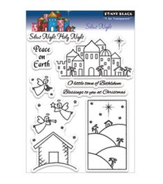 """Penny Black Clear Stamps 5""""X7.5"""" Sheet-Silent Night       $10.19"""