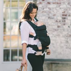 2ecf439b992 ADAPT baby carrier in Black offers 3 ergonomic carry positions   Front-Inward