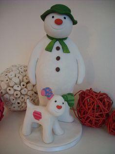 Fimo Snowman and Snowdog