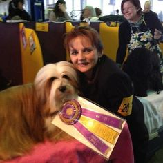 Our Daughter Nikkie Kinziger won Best of Breed Today at the 2013 Westminster Dog Show....We'll be cheering her and her dog Reese (Team-  RiLee Kennels) when they appear Monday 2/11/13 on CNBC - 8pm-11pm (EST)  Best of Luck to all the dogs entered.