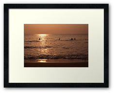 Colour #Travel #Photography #ArtPrint | Shot in #Vietnam, #PhuQuoc Island | #photo #colorphoto #travelphoto #sunset #sky #orange #goldenhour #ocean #sea #swim #evening #oceanwaves #waves #artprintforsale