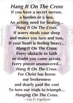 """Hang It On The Cross"" poem."