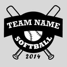 Softball Vector Tshirt Template clip art eps