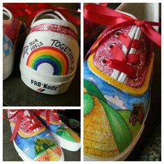 """Hand-Painted """"Wizard of Oz"""" shoes. So awesome!"""