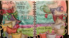 Cup of Tea art journal by mzqtz Tanya S