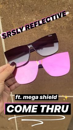Get seriously reflective for spring with mega mirrored frames Featuring COME THRU Cute Sunglasses, Sunglasses Women, Sunnies, Girly Things, Cool Things To Buy, Stuff To Buy, Looks Style, My Style, Hourglass Makeup