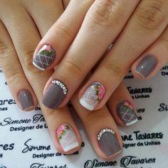 Colorful Nail Designs, Nail Art Designs, Cute Nails, Pretty Nails, Neon Nail Art, Vintage Nails, Fingernail Designs, Manicure E Pedicure, Fabulous Nails