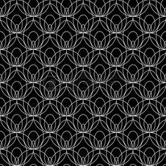 Bianco modello di pizzo senza soluzione di continuità su sfondo nero Archivio Fotografico - 15910992