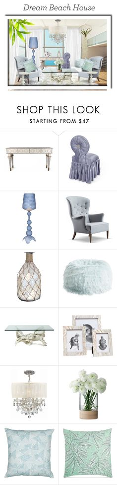 """Dream Beach House!"" by julidrops ❤ liked on Polyvore featuring interior, interiors, interior design, home, home decor, interior decorating, Haute House, Kartell, Pomeroy and PBteen"