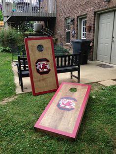 New SC South Carolina Gamecocks Cornhole Boards , Bean Bag Toss Game, ACA Reg. Size 2x4 ft.