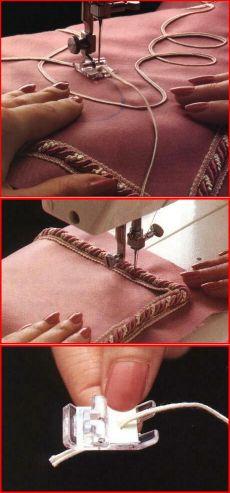 Технологии и советы по шитью- Как красиво и ровно пристрочить тесьму