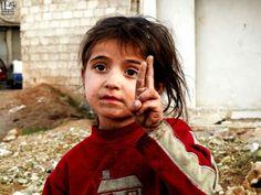 """The world sees you now, beautiful girl... l pinner wrtes: """"النصر قادم باذن الله"""""""