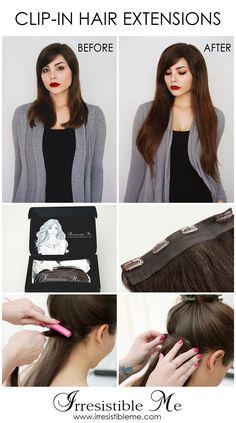 Feel beautiful at an affordable price with Irresistible Me 100% human Remy clip-in hair extensions. Choose your color, length and weight from various options. Sign up and get 20% your first order and other exclusive discounts!