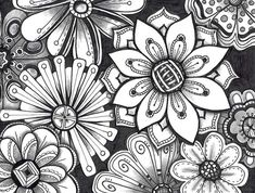 Zentangle Pattern Gallery | Zentangle Patterns For Beginners The zentangle method is taught