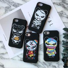 Fashion Korean GLOOMY BEAR Crazy G-Dragon Bigbang Bear 3D Cute Violence Bear Phone Case For Iphone 6 6s 6s Plus 7 7 Plus Cover(China (Mainland))