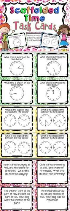 Elapsed Time Task Cards $