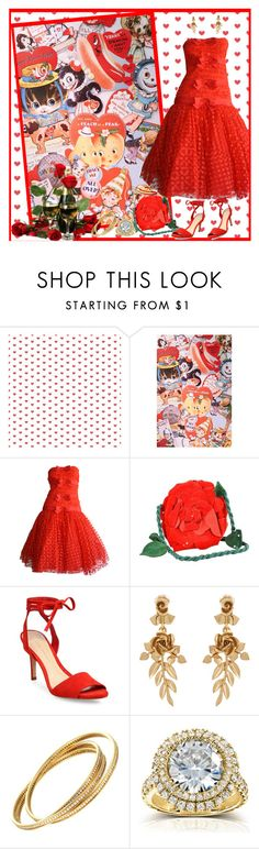 """""""I Choose You to be My Valentine!"""" by krusie ❤ liked on Polyvore featuring Urban Outfitters, Emanuel Ungaro, Loeffler Randall, Oscar de la Renta and Kobelli"""