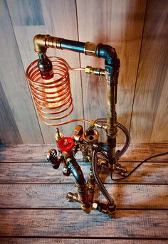 Desk Lamp Pipe Lamp Industrial Steampunk Lamp Industrial