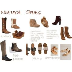 Natural Shoes by expressingyourtruth on Polyvore featuring Free People, Dr. Scholl's, Klogs, Jeffrey Campbell, rag & bone, AERIN, Ariat, Billabong, TOMS and UGG Australia