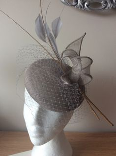 Silver cocktail hat  BY HELEN TILLEY   #millinery #hats #HatAcademy