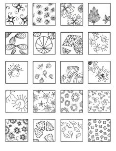 Updated Pattern Sheets