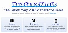 MakeGamesWithUs has a whole free year of iOS Curriculum for students to learn to build their own apps! Can't wait to send this to my teachers!  http://www.makegameswith.us