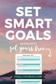 Need a guide for setting SMART goals? Get this FREE SMART Goals worksheet to get started. You'll be slaying those goals in no time, dream chaser. Free Planner, Goals Planner, Printable Planner, Free Printables, Daily Printable, Planner Ideas, Smart Goals Worksheet, Goal Setting Worksheet, Smart Goal Setting