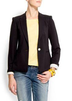 Mango Women's Roll-up Cuffs Blazer $79.99