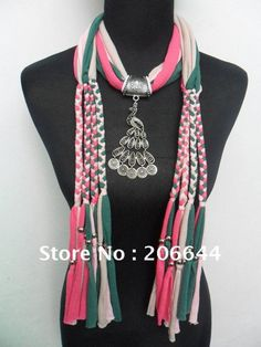scarves | Fashion jewelry scarves fantasy animals pendant scarf to wear bead ...