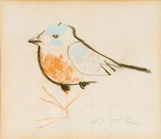 Janeček Ota | Ptáček | Aukce obrazů, starožitností | Aukční dům Sýpka Andersen's Fairy Tales, Rooster, Pastel, Bird, Illustration, Animals, Painting, Style, Birds