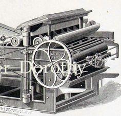 Image detail for -Issac Adams Bed & Platen Printing Press Vintage Engraving Machine ...