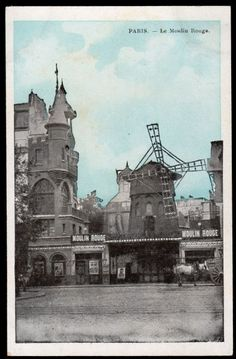 Postal Paris - O Moulin Rouge - sem uso - Filatelia..