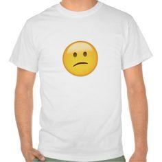 Confused Face Emoji T Shirt