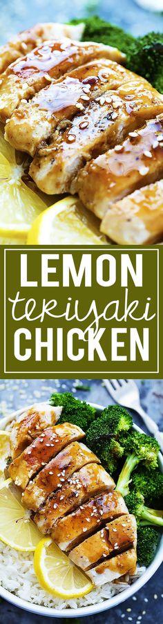 Lemon Teriyaki Chicken | Creme de la Crumb