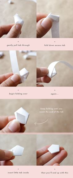 Estrelas de origami