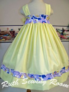 This one it's Sold but open to custom Request Lily Lavander  Sunday Dress Easter Summer Spring by RuthSewingRoom,
