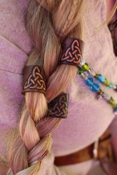 10 Metal Hair Beard Dread Bead Pewter Ladies Mens Asgard Skjoldhamn Scandinavian