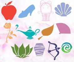 Disney Princess Photo: Symbols of the Disney Princesses Tinkerbell Disney, Arte Disney, Disney Magic, Disney Art, Disney Pixar, Princess Logo, Disney Princess Tattoo, Punk Princess, Tiana