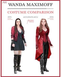 "1,655 Likes, 29 Comments - • Accurate.MCU • mcu fanpage (@accurate.mcu) on Instagram: ""• WANDA MAXIMOFF - COSTUME COMPARISON • What do you think about Wanda's evolution? I think her…"""