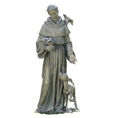 """ST FRANCIS WITH ANIMALS OUTDOOR STATUE - 36"""""""