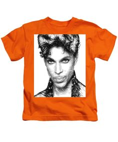 Kids T-Shirt - Prince - Tribute Sketch In Black And White