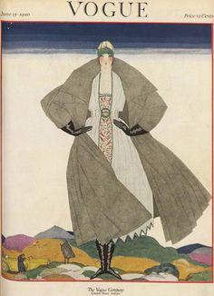 Georges Lepape fue parte de las portadas de esta revista y aquí aparece con un número de 1920, donde el art decó recién comenzaba a dar forma a la cultura.