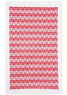 Red Leaves Tea Towel